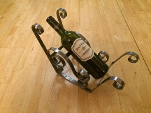wrought iron sleigh bottle holder