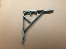 150 mm heart shelf bracket
